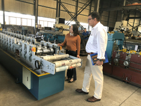 Customer visit from Chile for Corrugated Roll Forming Machine on March 30