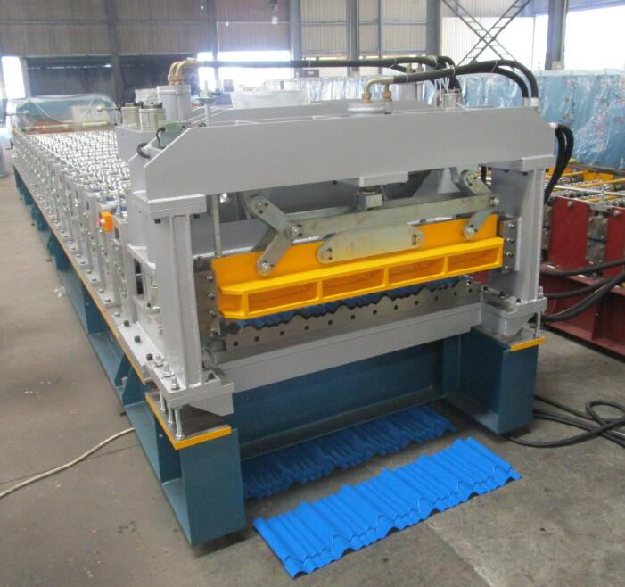 Aluminium step tile machine