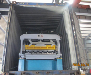 Delivery Of High Speed Step Tile Cold Roll Forming Equipment To Benin On December 29,2018