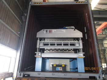 Three Containers Corrugated Roof Tiles&Double Layer Forming Machine On Apr 13,2021 To Nigeria