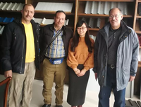 Customers From Egypt Visited For Automatic CZ Purlin Roll Forming Machines On December 13.2019