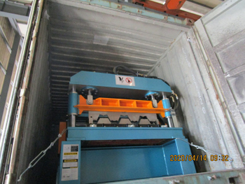 Deck roll forming equipment to Honduras on April 14.2020
