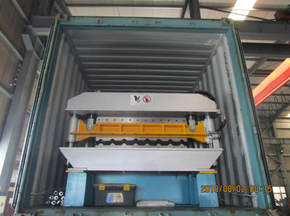 Delivery of Zhongyuan R101 and O-100 Double layer roll forming machine on August 02,2019