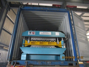 Two containers for double layer roll forming machines delivery on April 03,2019