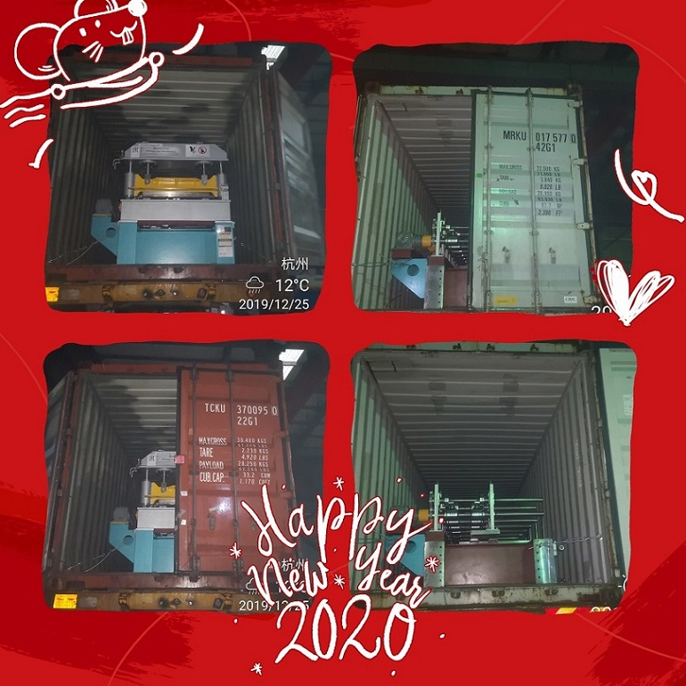 Roll forming machine delivery No.2 in Zhongyuan in December 2019